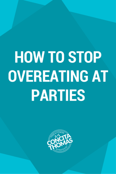 "How to Stop Overeating at Holiday Parties: Are you looking for advice to stop overeating at holiday parties that goes beyond ""just say no""? Click through to the blog to read the strategies that I use to enjoy festive foods without leaving the party feeling like Stuffed Sharon. Holiday, Social Eating, Clean Eating, Overeating"