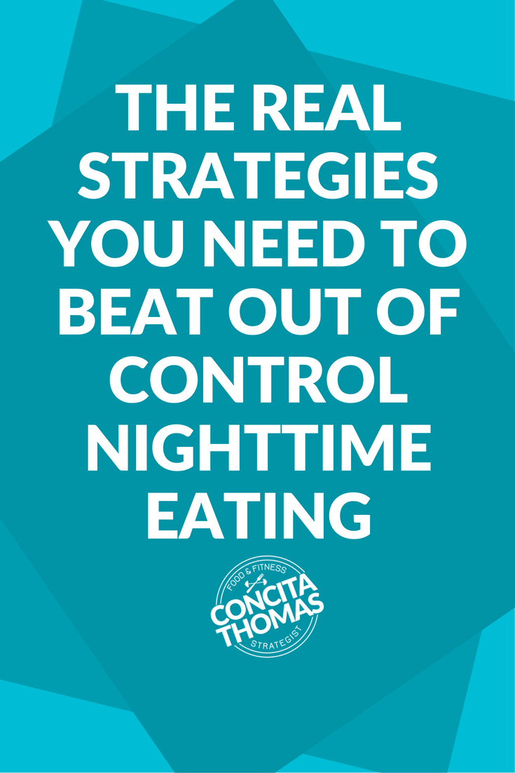 "The Real Strategies That You Need to Beat Out of Control Nighttime Eating While Working Late: When out of control nighttime eating strikes, the ""just go to sleep"" advice may not be a real option for you. If you work late and need to know how to beat nighttime cravings and binge eating, click through to read real strategies that can help you. nighttime eating, nighttime cravings, binge eating"