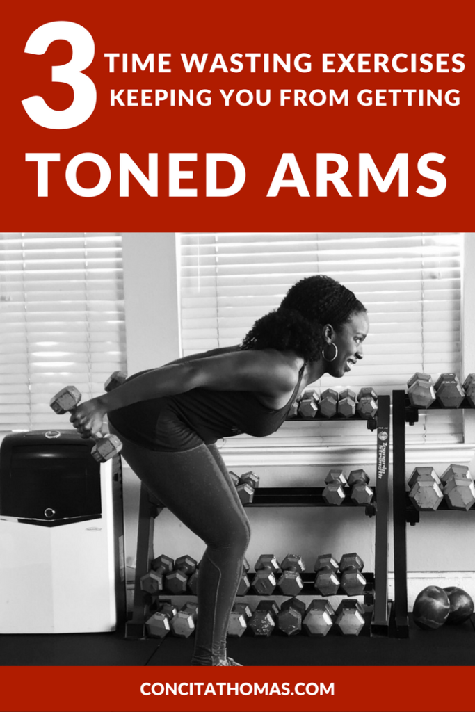 3 Time Wasting Exercises Keeping You From Getting Toned Arms: Read the article to discover which exact arm exercises are standing between you and the toned arms that you want. arm exercises, toned arms, arm workouts