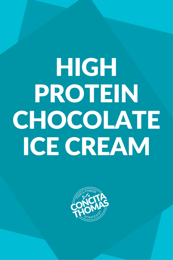 High Protein Chocolate Ice Cream: Click through to get the recipe for a high protein chocolate ice cream perfect for your weight loss journey. high protein dessert, weight loss, protein ice cream