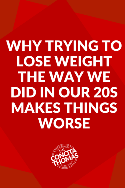 Why Trying to Lose Weight the Way We Did in Our 20s is Making Things Worse: Click through to find out why your 20-year old approach to weight loss is backfiring and what to do instead. Weight Loss, Fit at 40