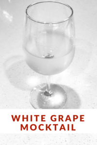 White Grape Mocktail: Click through to get a simple and delicious summer mocktail recipe. Easily and happily replace some of those summer cocktails with this drink to enjoy the summer without sabotaging your results. Mocktail, Weight Loss, Cocktails, Weight Loss Cocktails