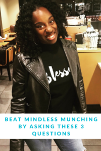 Beat Mindless Munching By Asking These 3 Questions: Click through to discover three simple questions that help you beat mindless munching without rules or deprivation. Mindless munching, mindless eating, weight loss