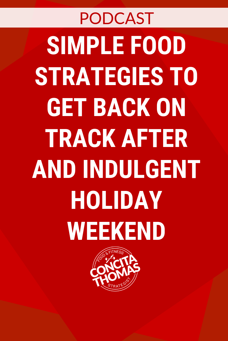 Simple Food Strategies to Get Back on Track after and Indulgent Holiday Weekend